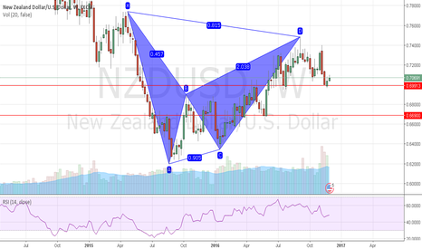 NZDUSD: a big view bearish gartley