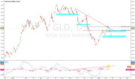 GLD: GLD spdr gold shares mean dold will go lower .