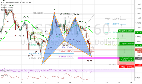 USDCAD: Potential Harmonic Pattern