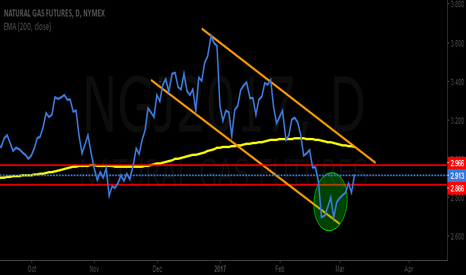 NGJ2017: Natural gas verified the double bottom neck line