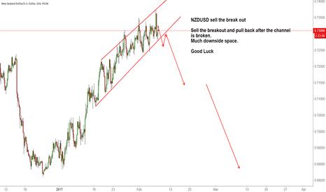 NZDUSD: NZDUSD sell the break out