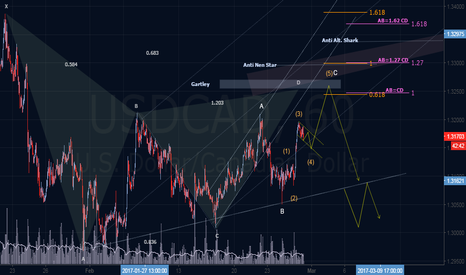USDCAD: Elliott & Harmonic Outlook