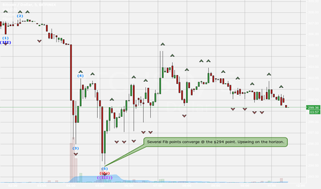 BTCUSD: Fib points converge @ $294. Look for upswing.