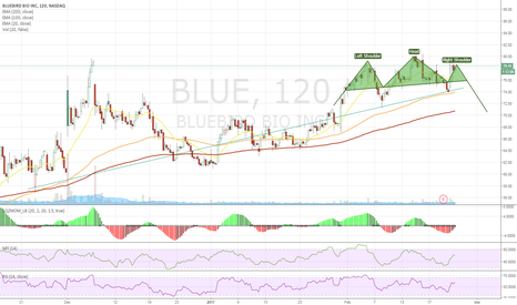 BLUE: H&S or 50 MA bounce and up?