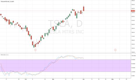TSLA: almost retraced entire pump