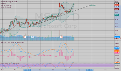 MSFT: Long Weekly $MSFT Aug 29 45.5 Puts