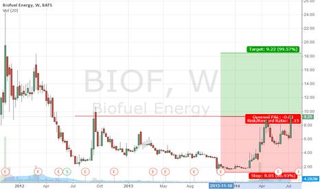 BIOF: Conviction Buy. Target 18.48
