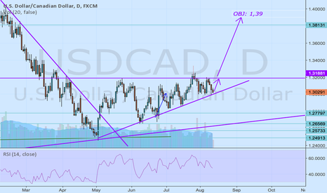 USDCAD: I'm long for the long term