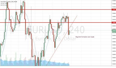 EURUSD: Flag limit formation and Resale