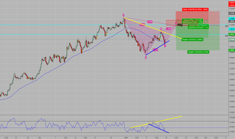 AUDCAD: Bearish Gartley with double hidden RSI divergence and confluence