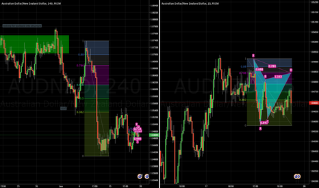 AUDNZD: AUDNZD Gartley Pattern Formation