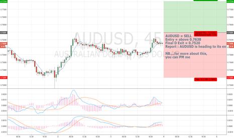 AUDUSD: ATM ATM ATM AUDUSD Sell above 0.7638
