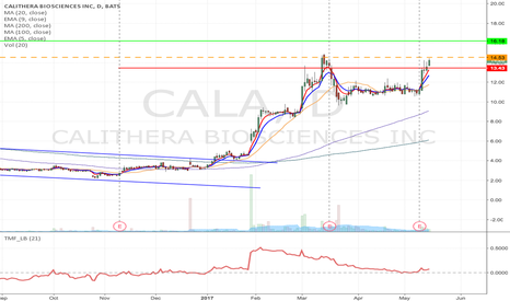 CALA: CALA- Flag formation Long from $14.53 to $16.18 and higher