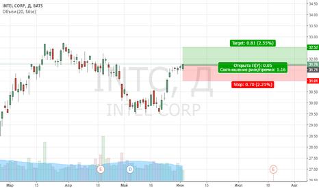 INTC:  длинную позицию от $31,5