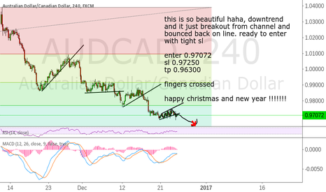 AUDCAD: audcad downgoing trend. some pips to be made untill bounce up