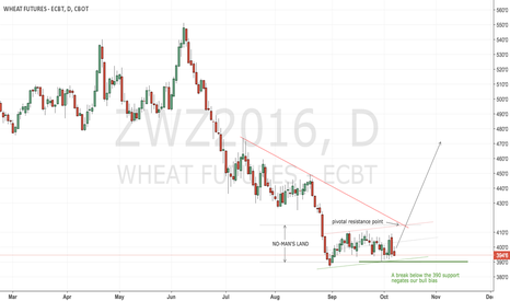 ZWZ2016: CBoT wheat has put a long term bottom on the chart and is a long