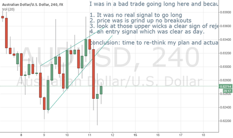 AUDUSD: AU bad trade and why
