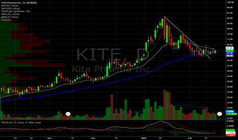 KITE: Kite Pharma Daily. Base building