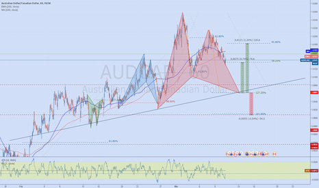 AUDCAD: AUDCAD Bullish '222' Gartley Pattern