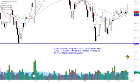 LKQ: LKQ Day Trade Perfect Gap N Go (Brad Reed Feb26,2015)