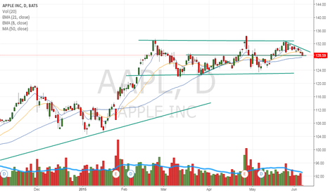 AAPL: May have further downside if it breaks support here