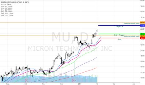 MU: MU Bullish Swing