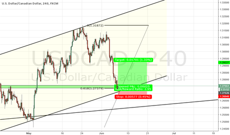 USDCAD: USD CAD LONG TRADE ON H4