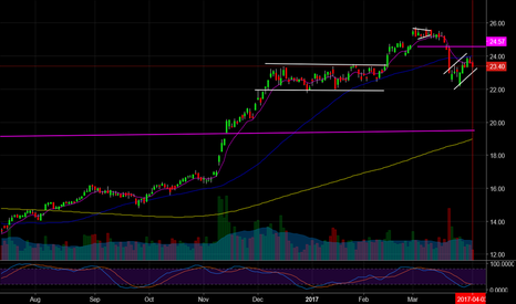 BAC: $BAC, Classic Bear Flag, Im short Target 19.50