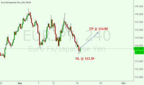 EURJPY: A risky buy of EURJPY at 113.79