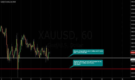 XAUUSD: GOLD / Discount price / Cheap Bulls. October 13 sale. Save 50%