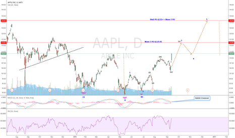 AAPL: AAPL-EW Count and iHnS Pattern