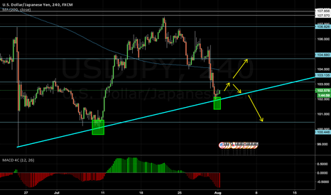 USDJPY: possible Long