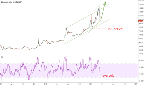 BTCUSD: Bitcoin Looks Cheap Near $950