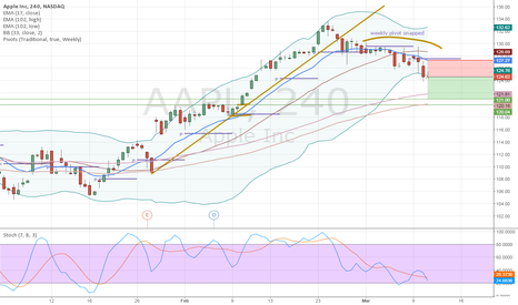 AAPL: expecting AAPL to go down to 121.00 area