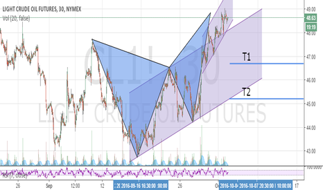 CL1!: Butterfly Pattern and Ascending Flag for Short Position