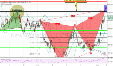 NZDUSD: NZDUSD Bearish (Butterfly Pattern)