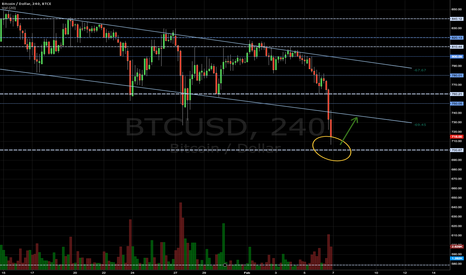 BTCUSD: Huge Support at 700 Psychological Level