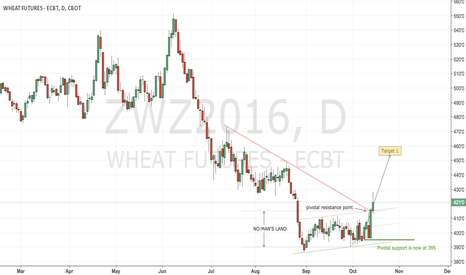 ZWZ2016: CBoT wheat has a confirmed bottom and a long play is valid