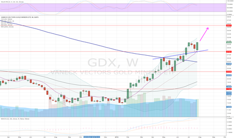 GDX: GDX CONTINUE RALLY AFTER 2WK PAUSE