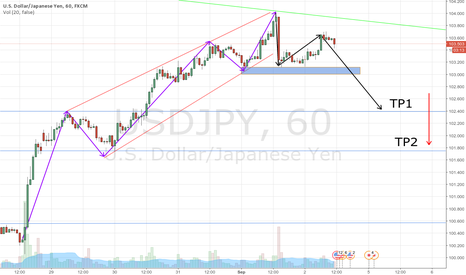 USDJPY: USDJPY short by Elliot theory