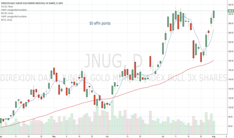 JNUG: wow, 50% in 5 days for $JNUG.