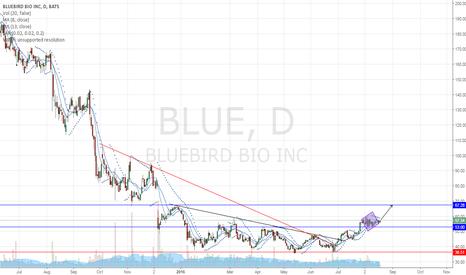 BLUE: contiuation diamond pattern