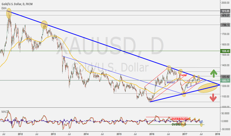 XAUUSD: Gold mid term direction until end of 2017