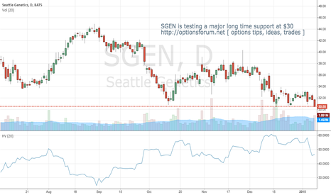 SGEN: SGEN is testing a major support level