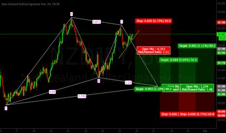 NZDJPY: Nzd/Jpy Gartley Pattern LONG