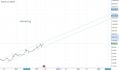 XBTEUR: The Long Term Growth of Bitcoin until 2020