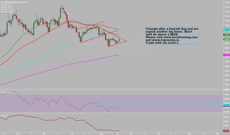 USDCAD: USD/CAD bear flag and triangle