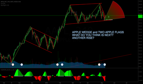 AAPL: APPLE TWO FLAGS and in a WEDGE
