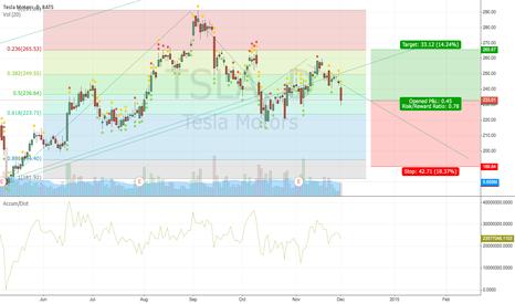 TSLA: .78 Risk/ratio at 200 DMA. Where will Tesla go?