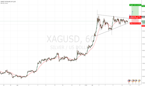 XAGUSD: Bullish Flag on Silver 60m